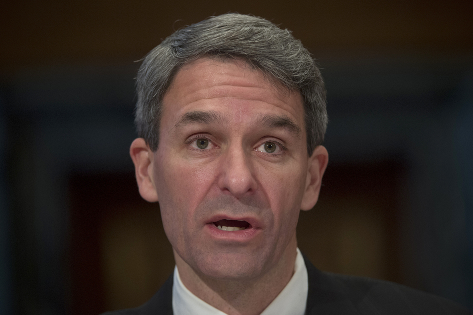 Ken Cuccinelli, seen here in 2016, was named on Monday as acting head of U.S. Citizenship and Immigration Services, which is charged with adjudicating requests for citizenship, green cards and visas. (Molly Riley/AP)