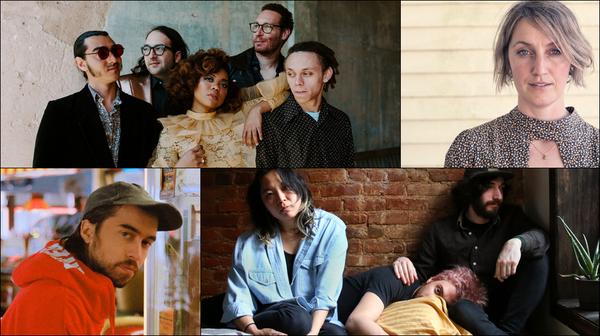 Clockwise from upper left: Seratones, Joan Shelley, Jordan Moser, Haybaby, (Sandy) Alex G