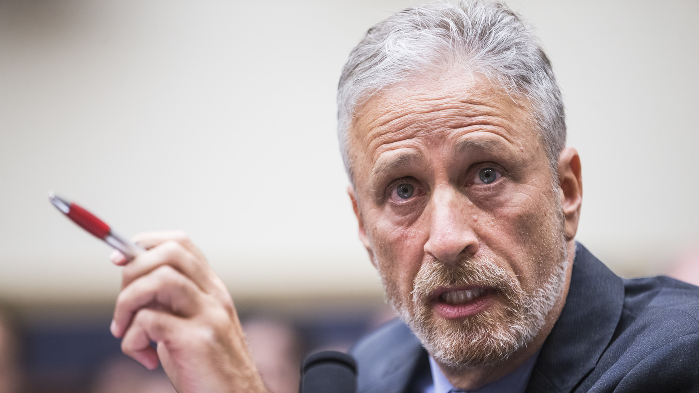 Jon Stewart Slams Lawmakers For Not Attending 9/11 Victims Hearing - NPR thumbnail