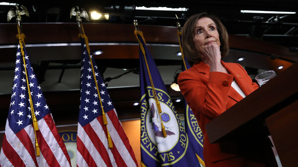 House Speaker Nancy Pelosi, D-Calif., holds a news conference on June 5. The House is debating Tuesday on a resolution to authorize lawsuits to obtain information on the Mueller investigation.