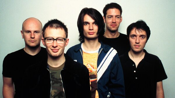 Radiohead, pictured in 1997, around the original release of OK Computer.