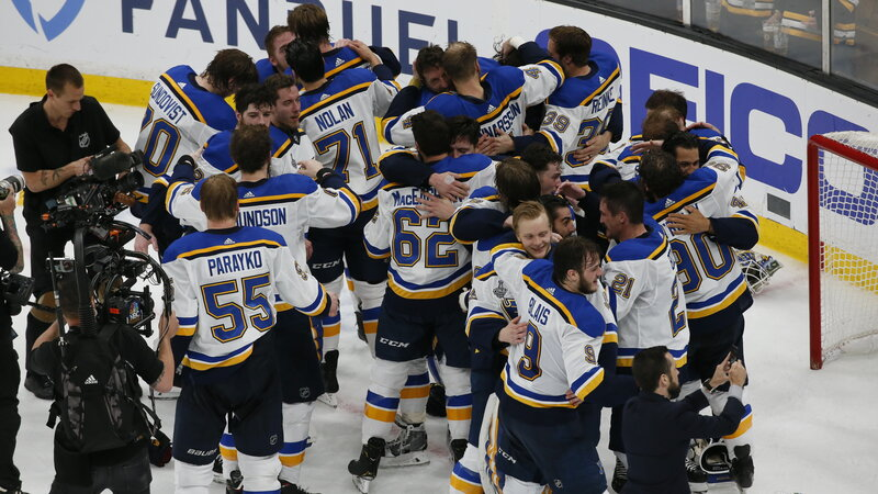 St Louis Blues Win Stanley Cup Over Boston Bruins In 7 Games Npr