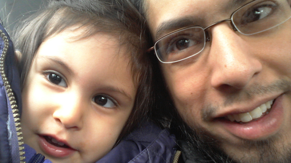 """Danisch Farooqi with his daughter, Aaliya, in Hamburg, Germany, when she was around 2 years old. """"I haven"""