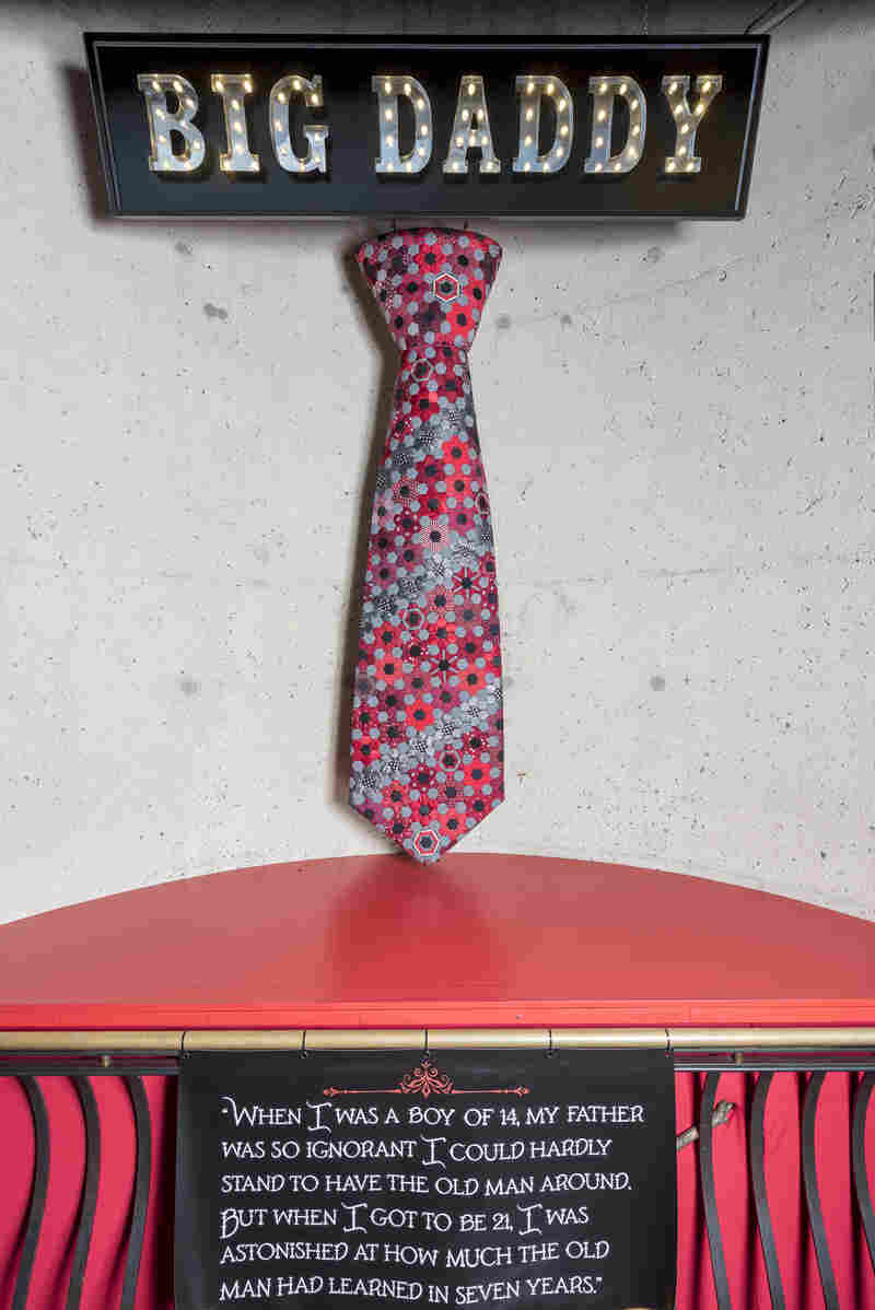 "The women also created a giant necktie called ""Big Daddy."" Both the tie and the vignettes are on display now at Baltimore's American Visionary Art Museum."
