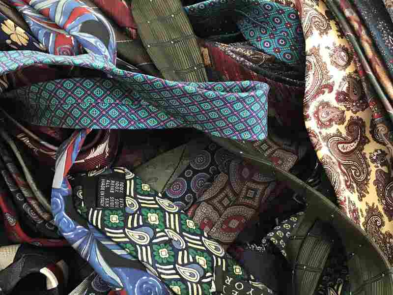 """The Catskilled Crafters solicited tie donations from local community and rec centers — and scored hundreds from the stash of a woman Brackman calls a """"tie hoarder."""""""