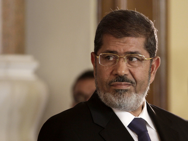 Egyptian President Mohammed Morsi, shown here in 2012, has died, according to Egyptian state television. (Maya Alleruzzo/AP)