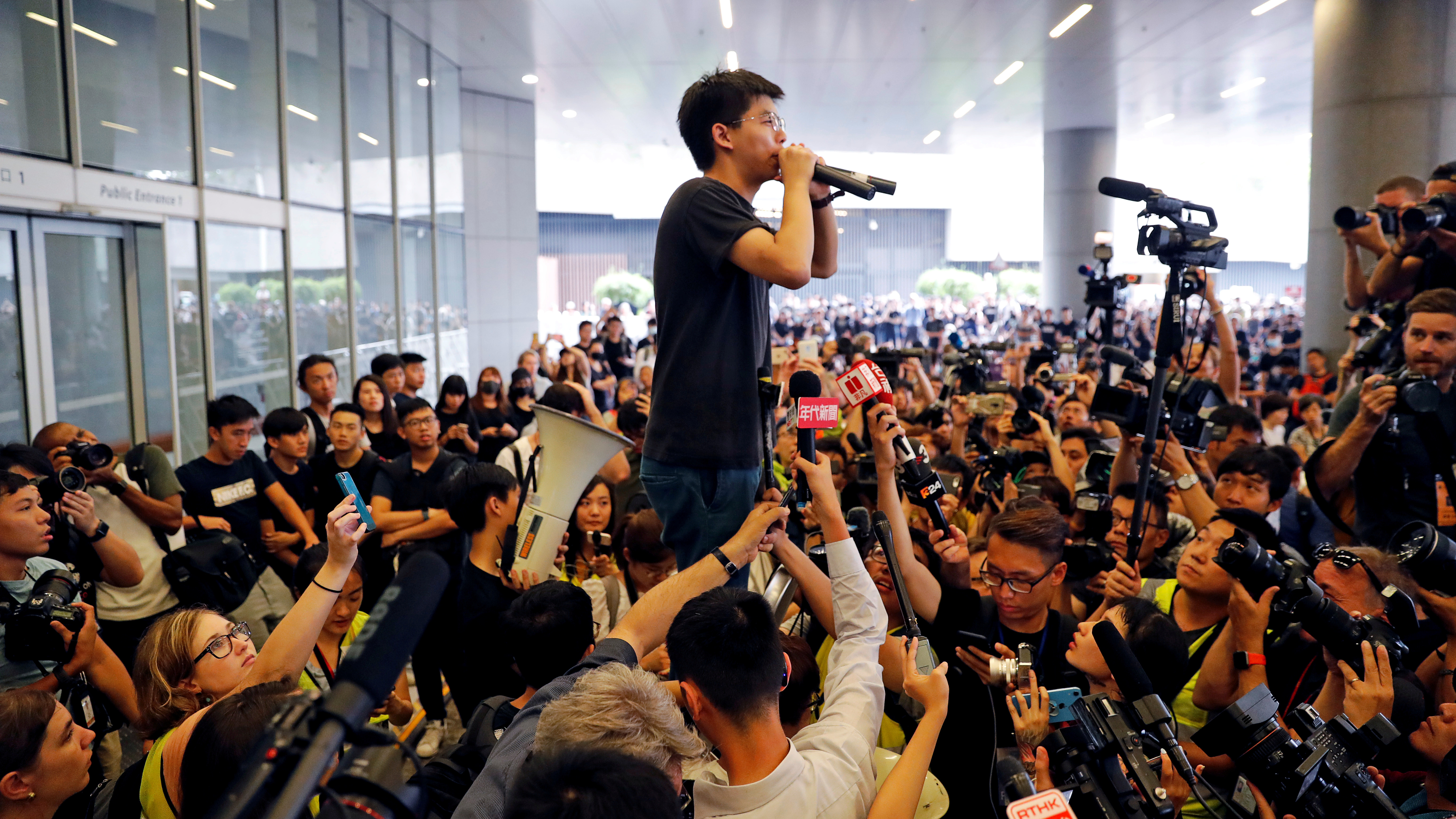 Hong Kong Activist Joshua Wong Is Freed, Says He Will Join Mass Protests