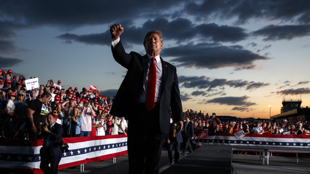 President Trump, shown at an event in Montoursville, Pa., in May, is calling a rally in Orlando, Fla., on Tuesday a campaign kickoff. (Evan Vucci/AP)