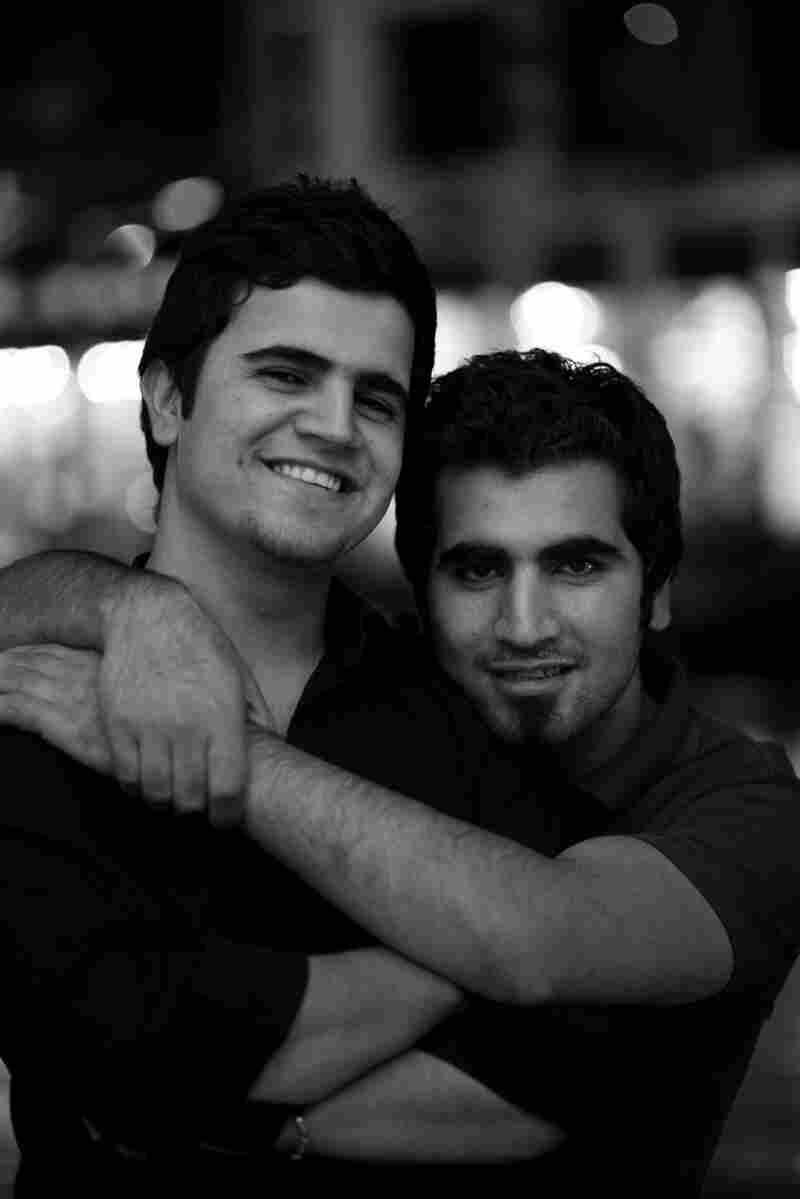 Ahmed Najm (left) with his older brother Kamaran Najm.