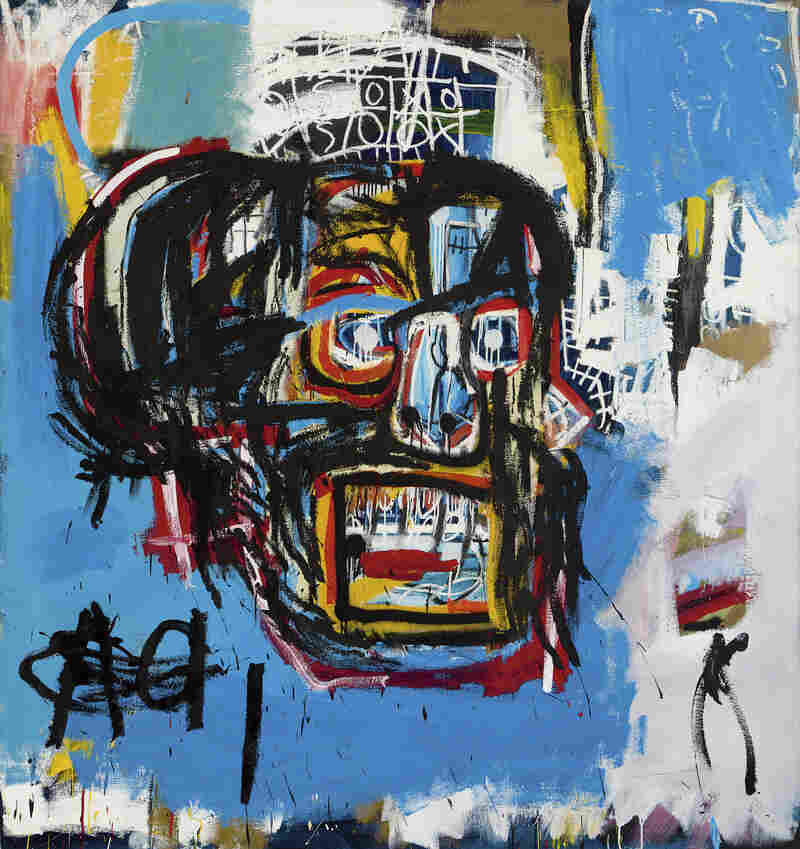 Jean-Michel Basquiat's Untitled was produced in 1982. The Los Angeles Times says that until shortly before Thursday's auction, it hadn't been shown in public since a private collector bought it for $19,000 in 1984