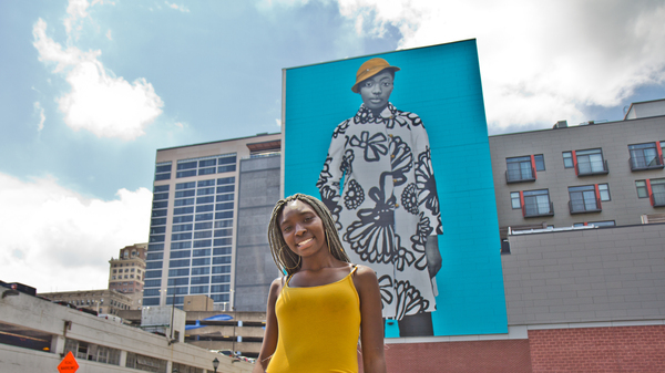 'She Had A Special Energy': Philly Teen Inspires Amy Sherald's 6-Story Mural
