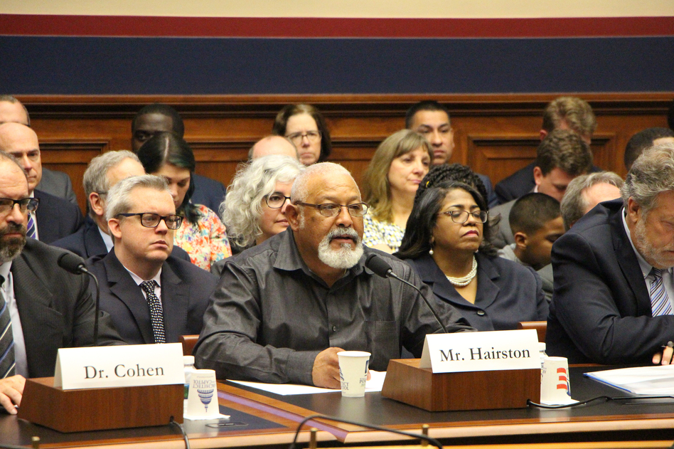 Gary Hairston, a coal miner for 27 years, spoke at the hearing. He has been diagnosed with progressive massive fibrosis, the advanced stage of black lung disease. (House Committee on Education and Labor)