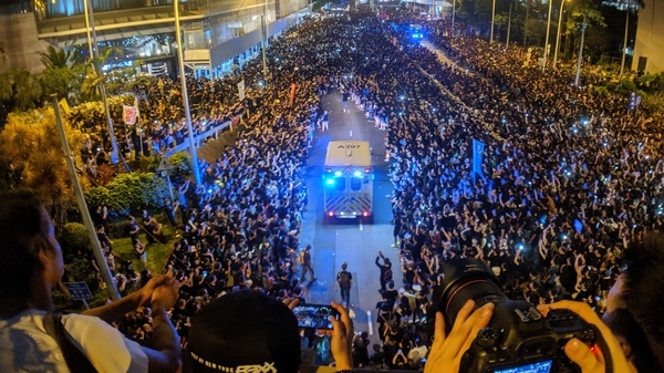Hong Kong anti-extradition law protest on June 16, 2019.