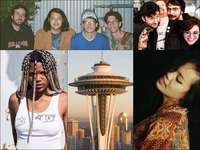Clockwise from upper left: Versing, Actionesse, Chong The Nomad, Seattle's Space Needle, doNormaal
