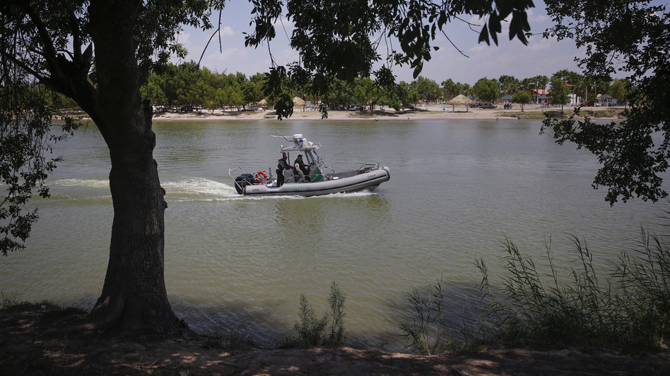 U.S. Border Patrol agents found four bodies near the Rio Grande river along Anzalduas Park, close to McAllen, Texas. In this file photo, a Border Patrol boat is seen on the river along Anzalduas Park. (Shannon Stapleton/Reuters)