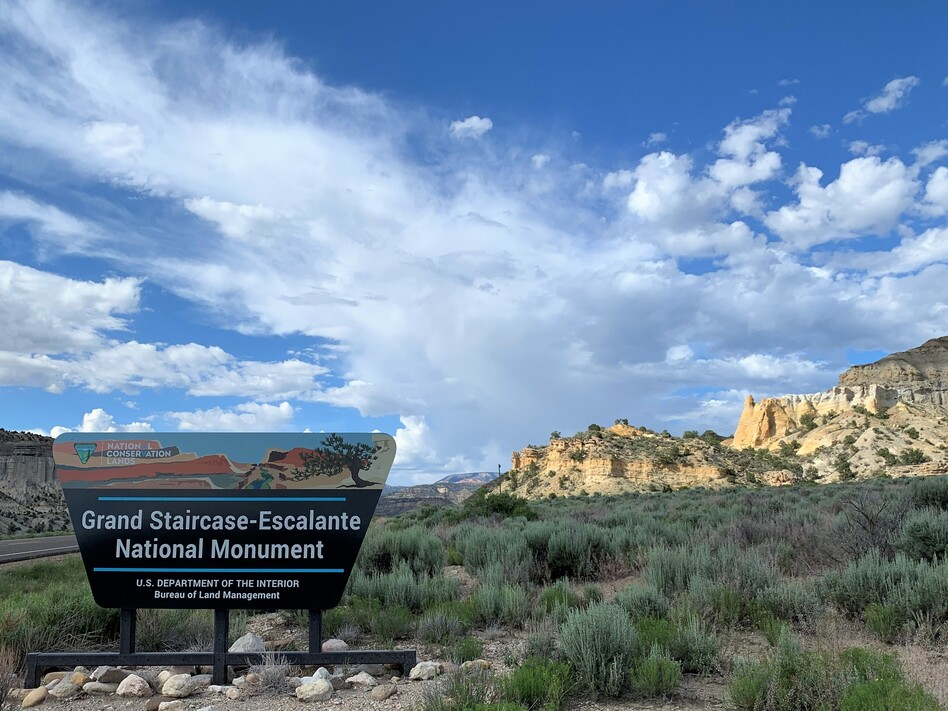 Located between Capitol Reef and Bryce Canyon and Zion national parks, the Grand Staircase-Escalante National Monument has become a big tourist draw since its designation in 1996. (Kirk Siegler/NPR)