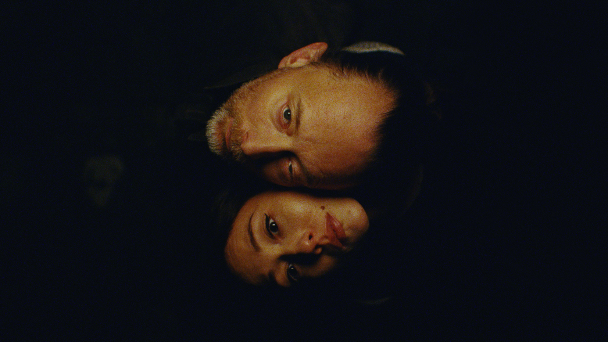 Thom Yorke and Dajana Roncione in a scene from the video for Yorke's ANIMA, directed by Paul Thomas Anderson.