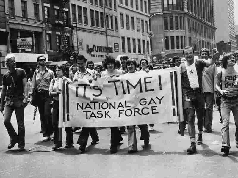 A gay rights march in New York in favor of the 1968 Civil Rights Act being amended to include gay rights.