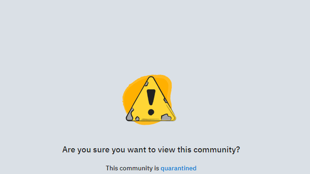 "Reddit has restricted access to a popular pro-Trump community forum over threats of violence directed toward officials and police in Oregon, Reddit announced on Wednesday. (A screen capture of the warning that now accompanies Reddit's ""The_Donald"" community forum)"