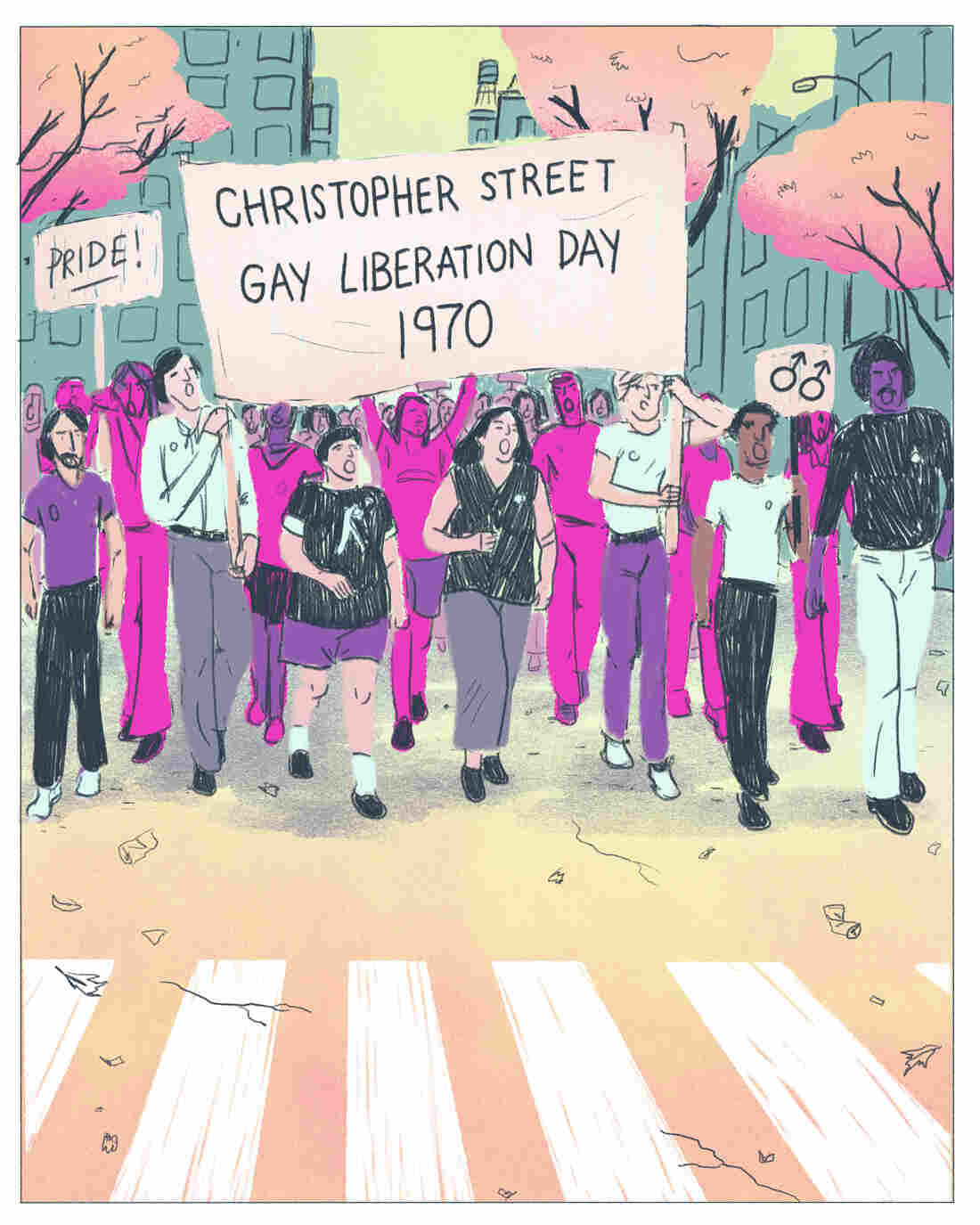 Stonewall spurred the first Pride parade.