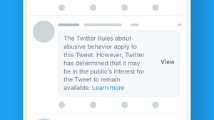 Twitter Adds Warning Label For Offensive Political Tweets