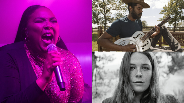 Clockwise from left: Lizzo, Gary Clark Jr., Maggie Rogers