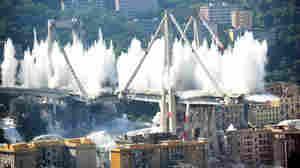 Genoa Bridge Is Demolished, Erasing An Artifact Of Deadly Collapse