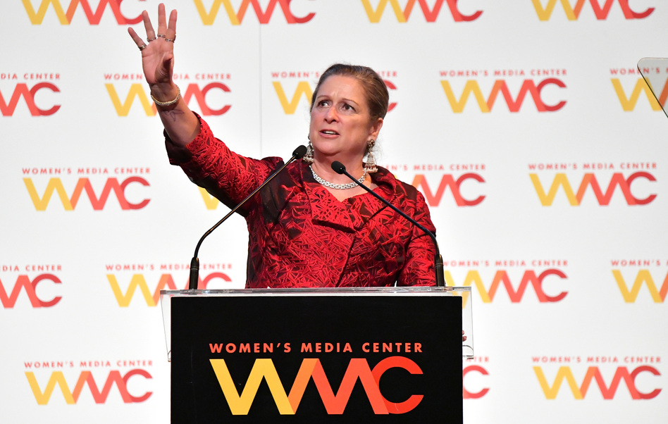 Honoree Abigail Disney speaks during the 2018 Women's Media Awards at Capitale on Nov. 1, 2018, in New York City. (Mike Coppola/Getty Images)