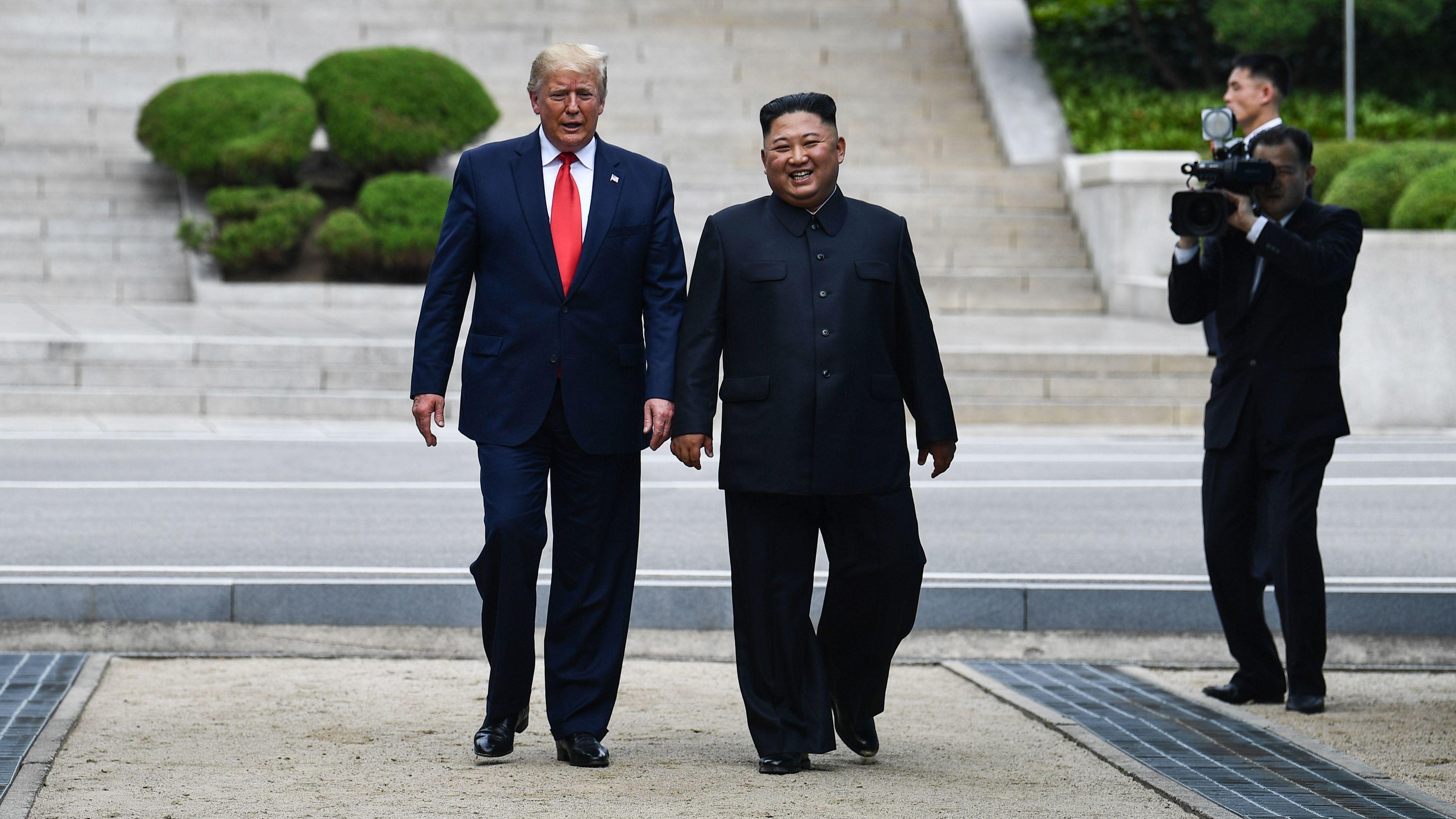 Trump Meets Kim Jong Un Steps Foot Inside North Korea Npr