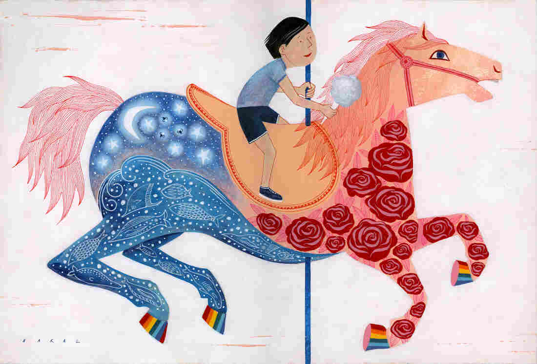 Cotton candy smiles/and merry go round horses/in soft sudden rain — Cindy Guentherman, Loves Park, Ill.