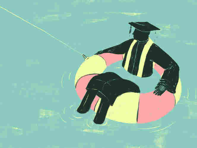Drowning in student loans.