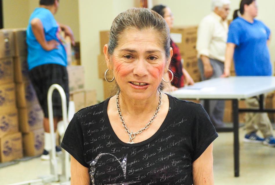Graciela Panduro says she wants to work, but can't find a job. (Jim Zarroli/NPR)