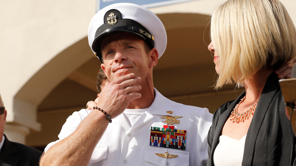 A jury sentenced Navy SEAL Special Operations Chief Edward Gallagher on Wednesday, one day after he was acquitted on the most serious charges he faced in connection with the death of a 17-year-old ISIS fighter in U.S. custody. (John Gastaldo/Reuters)