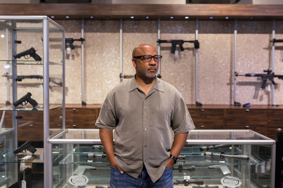 Philip Smith is the president and founder of the National African American Gun Association. Since its creation in 2015, the group has seen rapid growth with roughly 30,000 members and 75 chapters nationwide. (Lynsey Weatherspoon for NPR)