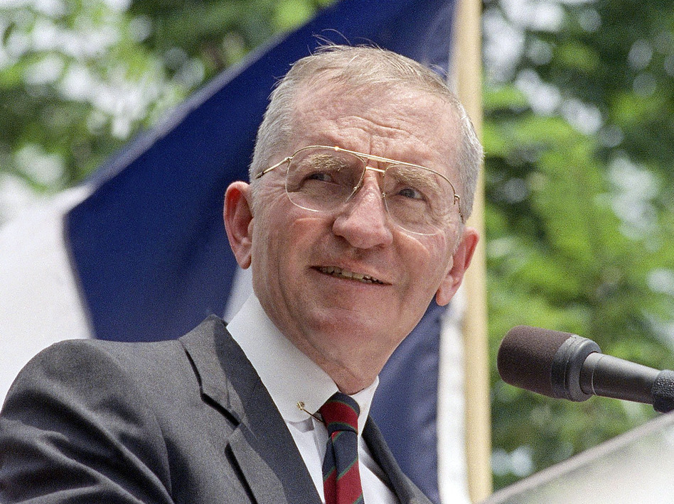 Ross Perot ran for president twice, in 1992 and 1996. He died on Tuesday in Dallas. (AP)