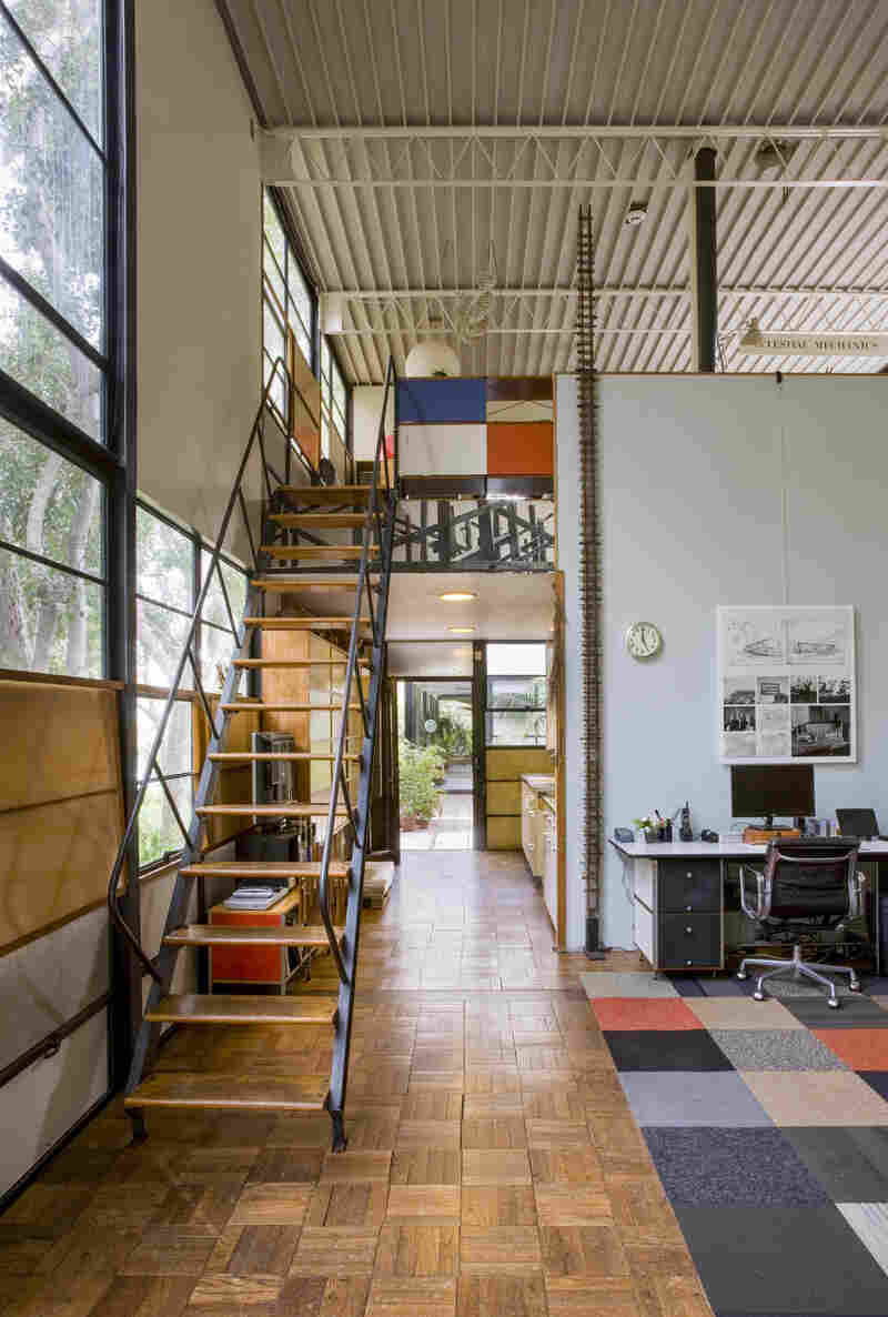 The double height of the studio space was designed to maximize natural daylight.