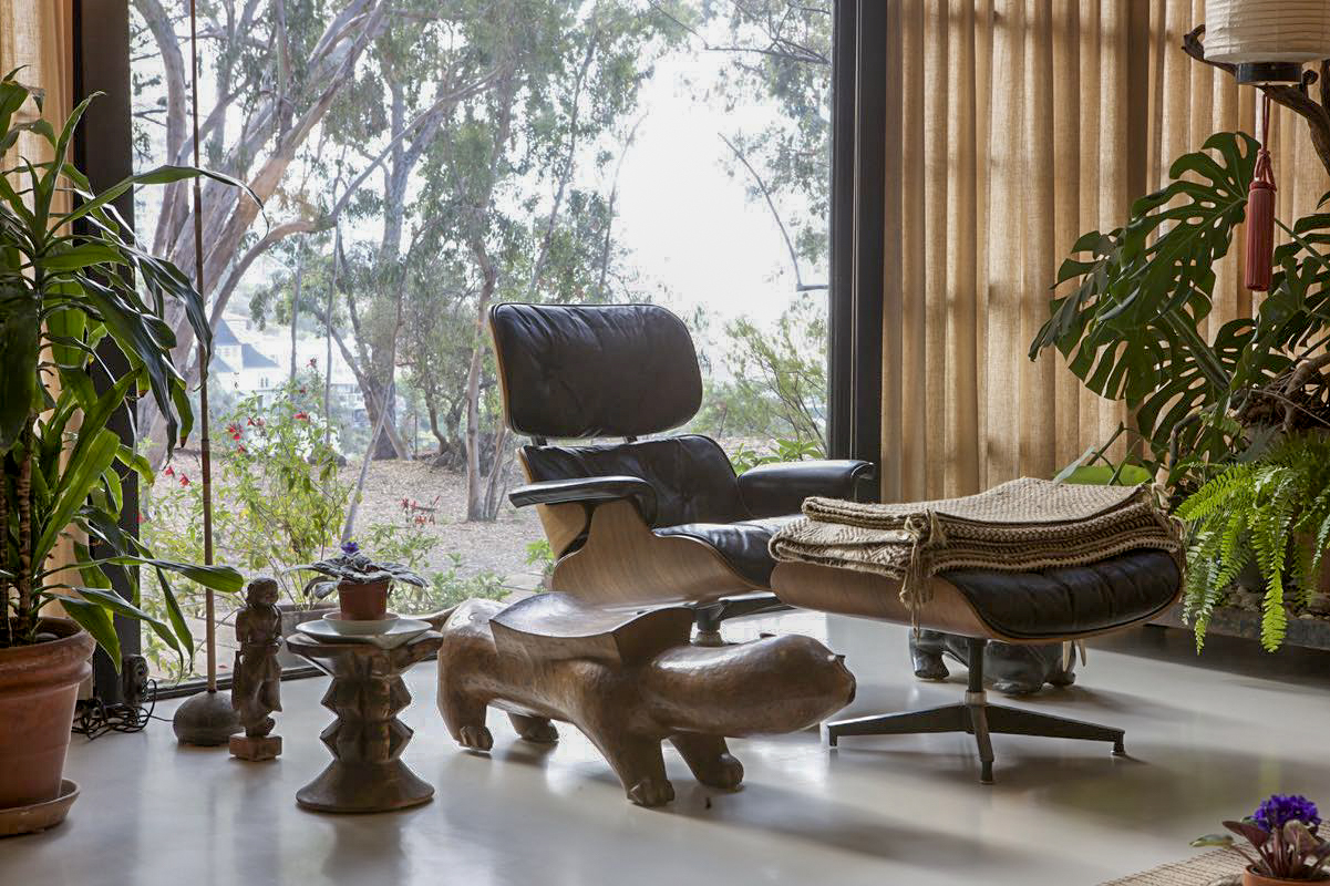 Eames Lounge Chair Living Room charles and ray eames made life better by design; their home