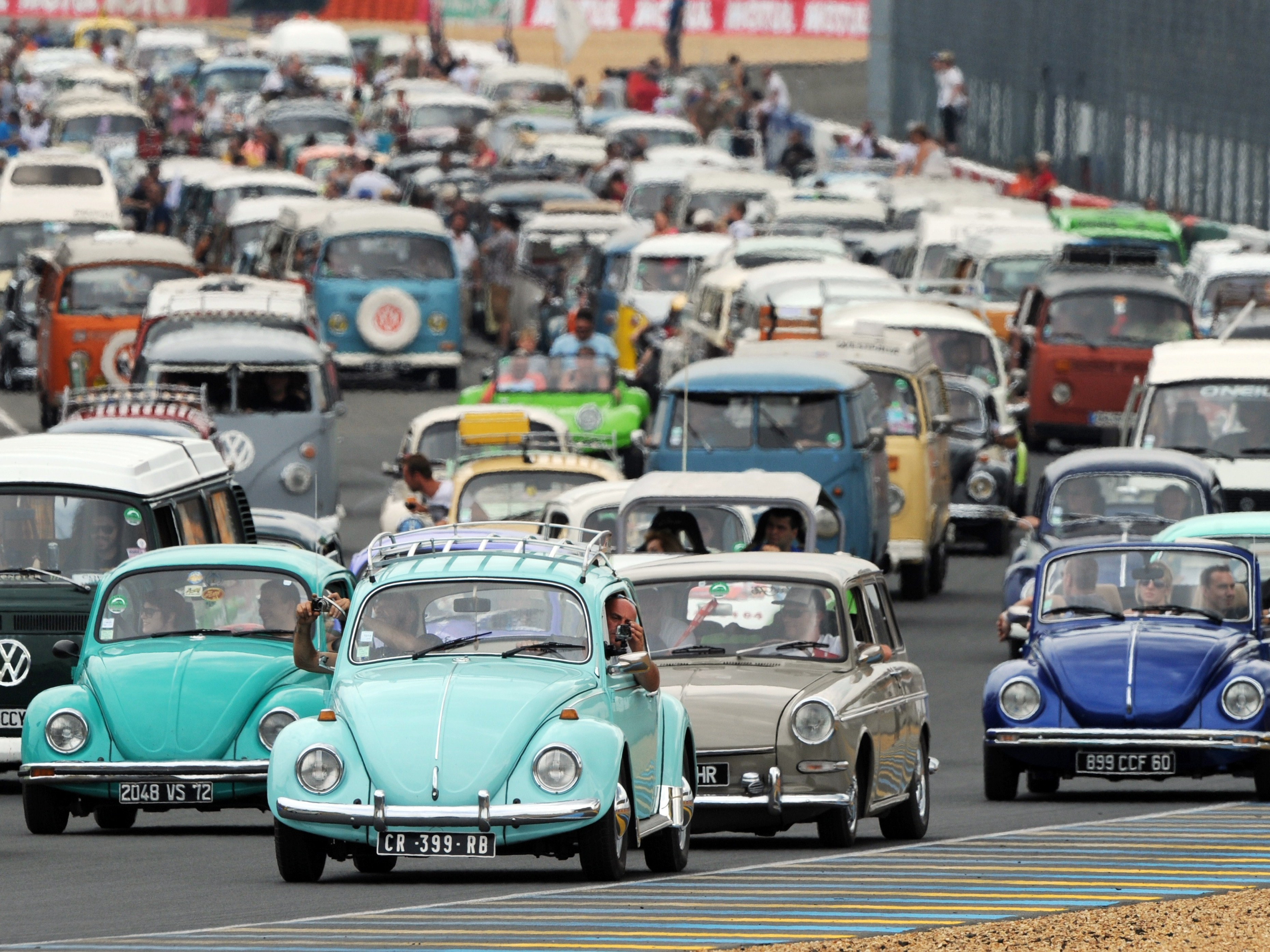 Volkswagen Beetle Last Bug Rolling Off The Assembly Line In Mexico Npr
