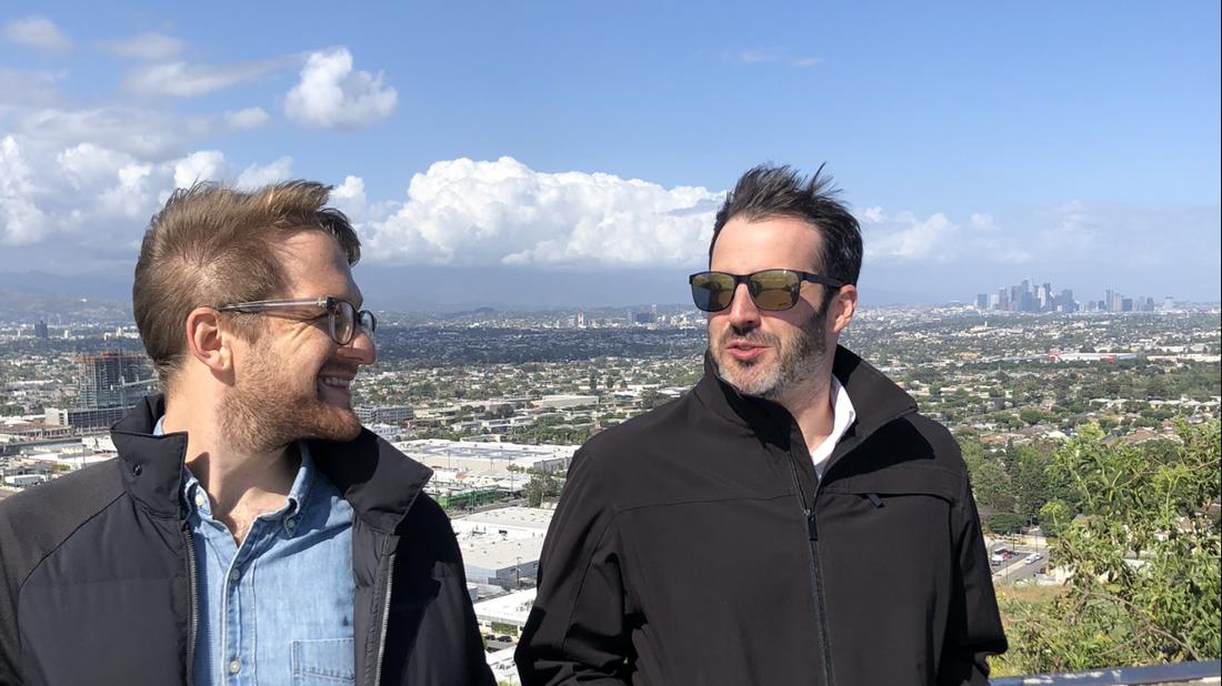 Cardiff Garcia and Jacob Margolis at Baldwin Hills Scenic Overlook