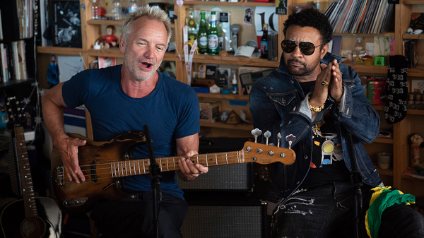 Sting and Shaggy perform a Tiny Desk Concert on Sept. 19, 2018.