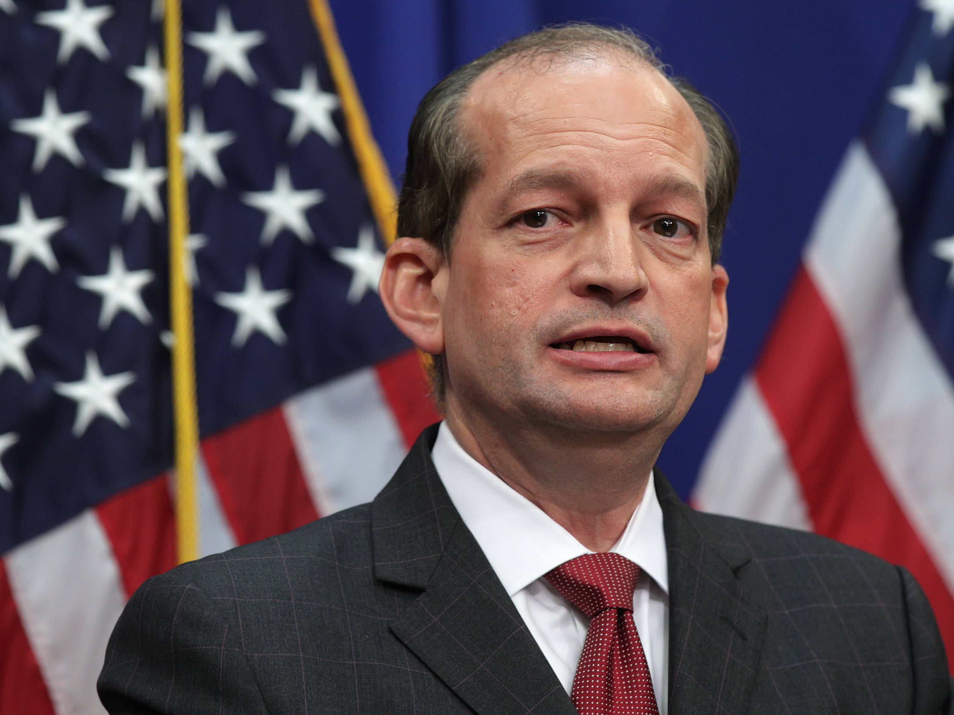 Labor Secretary Alex Acosta on Wednesday defended a 2008 plea deal made with Jeffrey Epstein, a wealthy financier accused of yearslong sex trafficking of minors. The deal was made when Acosta was a U.S. attorney in Florida.