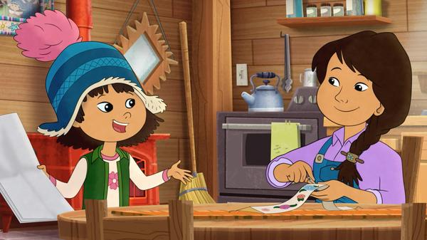 In the PBS program Molly of Denali, Alaska Native Molly Mabray helps her mom run a trading post in an Alaskan village.