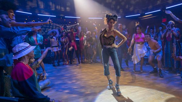 Indya Moore walks the runway as Angel in the FX series Pose.