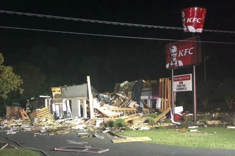 KFC Obliterated By Explosion In North Carolina : NPR on indiana map, tennessee map, arizona state map, u.s map, colorado state map, maine state map, texas state map, virginia state map, south dakota state map, louisville map, kentucky capitol building, arkansas state map, louisiana state map, new york state map, maryland state map, louisiana on us map, pennsylvania state map, tenn state map, massachusetts state map, minnesota map,