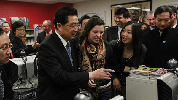 In this 2011 photo, Hu Jintao, then China