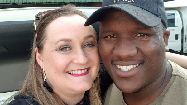 Kim Davey (left), a passenger in Menzi Mngoma