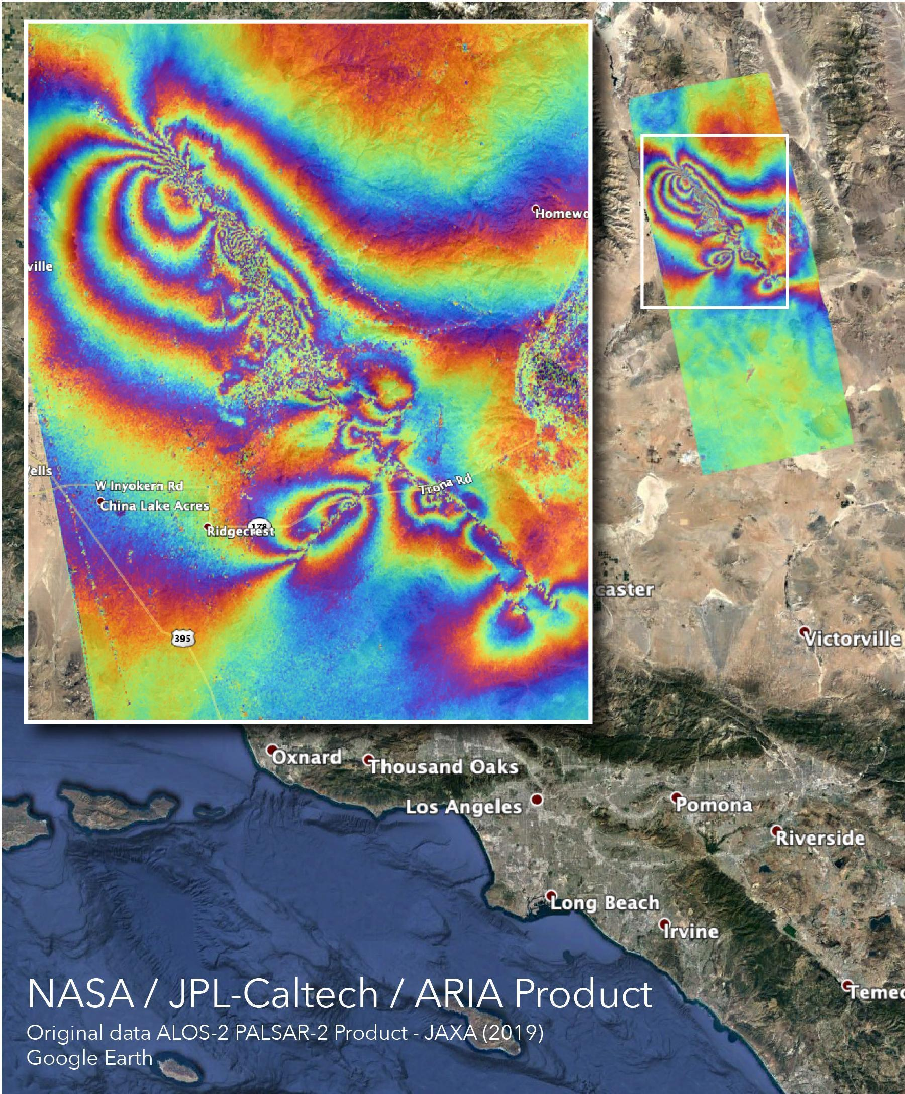 Nasa Map Shows How California Earthquakes Moved The Earth Npr