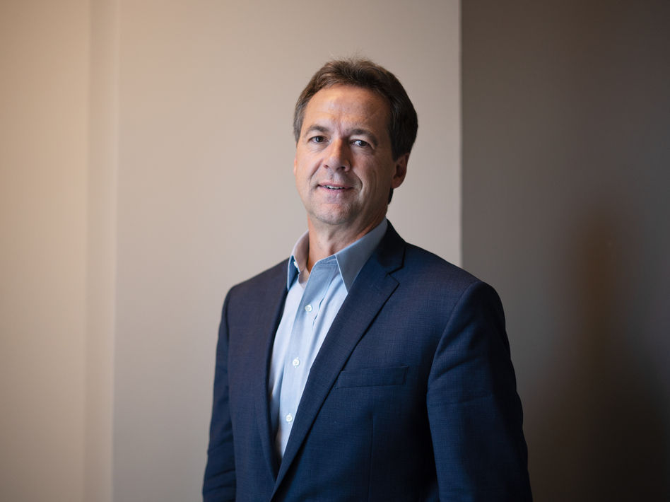 Montana Gov. Steve Bullock, a late entry to the 2020 race, hopes his red-state credentials will help him connect with voters. (Claire Harbage/NPR)