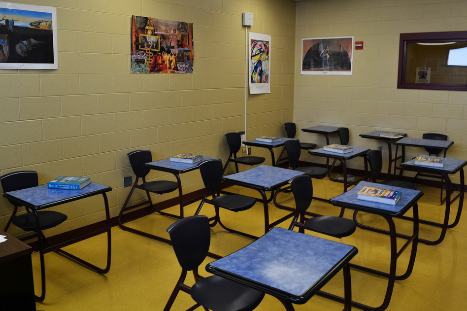 The Fayette County school system runs regular classes for the young people incarcerated at the Fayette Regional Juvenile Detention Center in Lexington, Ky. (Cheryl Corley/NPR)