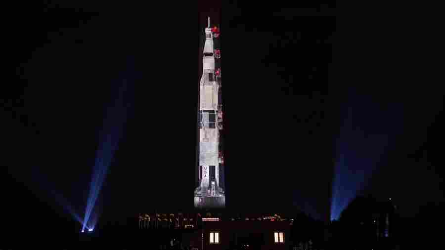 For Apollo 11's 50th Anniversary, The Washington Monument Becomes A Rocket
